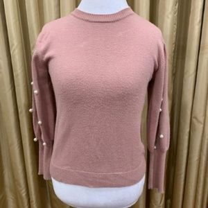 DO & BE Pearl Sleeve Sweater Small